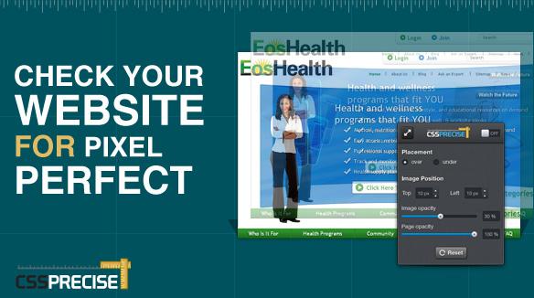 CSSPrecise Pixel Perfect Tool