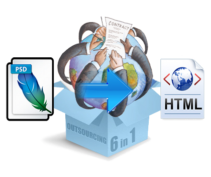 PSD to HTML Outsourcing