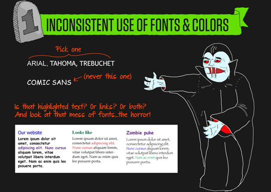 Avoid Scary Designs in Your Website 1