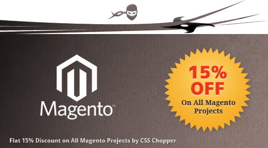 CSS Chopper Brings Flat 15% Off on All Magento Projects