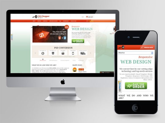 PSD to responsive WordPress