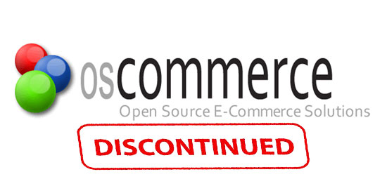 discontinuation of OsCommerce