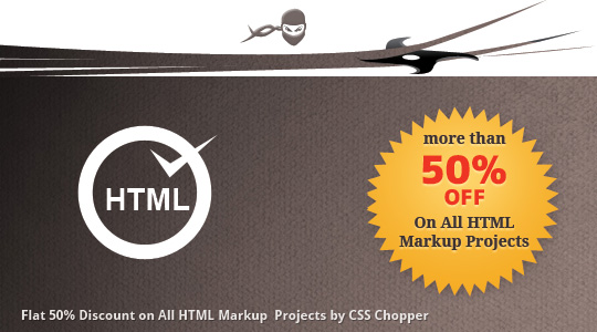 Discount on HTML Projects