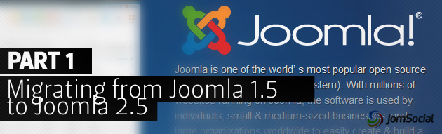 Migrating Your Existing Website to Joomla 2.5