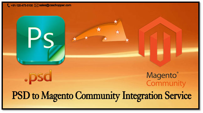 Psd to magento community integration service provider for Magento community templates