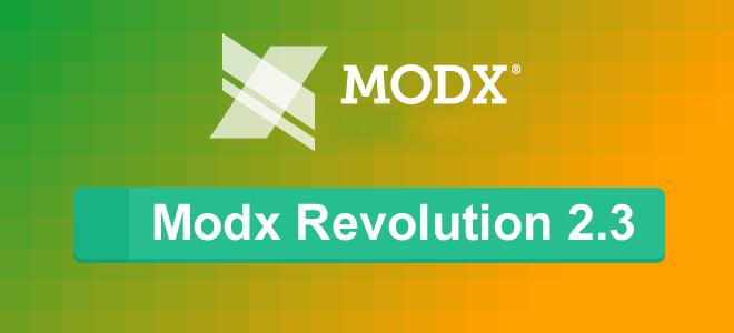 Modx Revolution 2.3