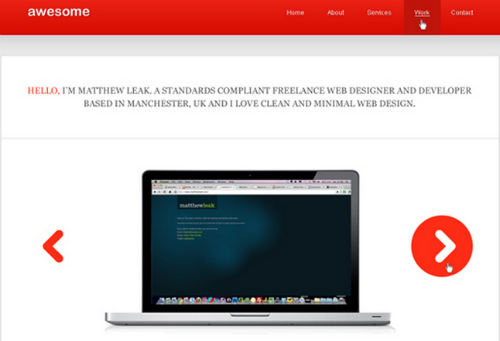 Awesome Minimal Web Design from PSD to XHTML