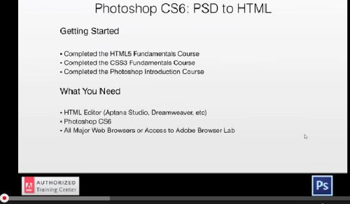 Photoshop CS6 PSD to HTML Tutorial