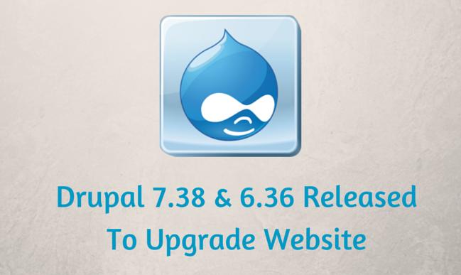 Drupal 7.38 & 6.36 Released