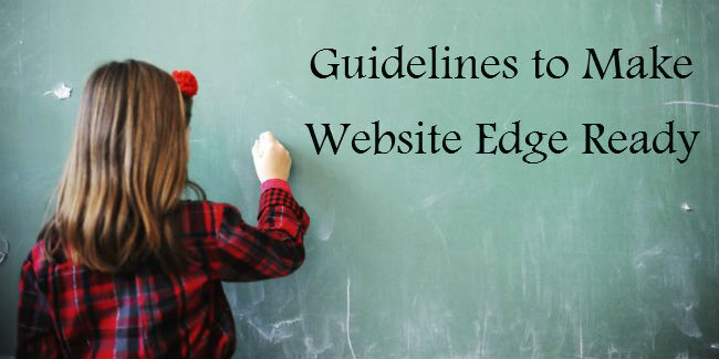 Guidelines to Make Website Edge Ready