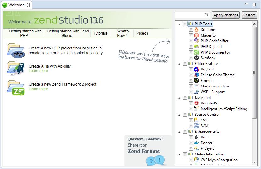 Zend Studio editor