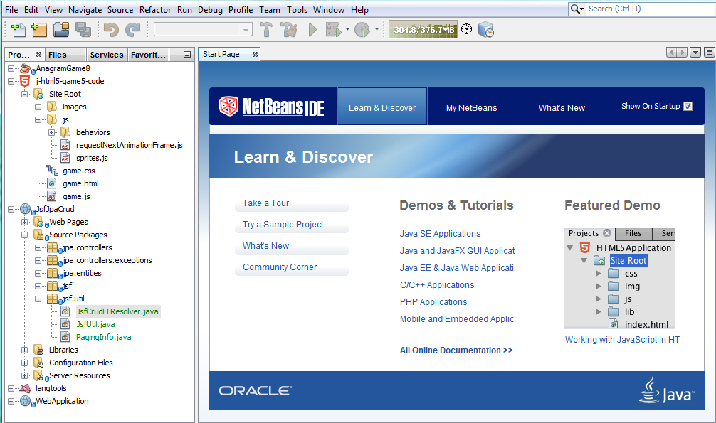 NetBeans HTML Editor