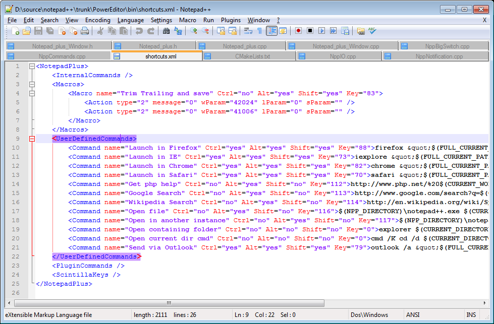 Notpad++ HTML Editor