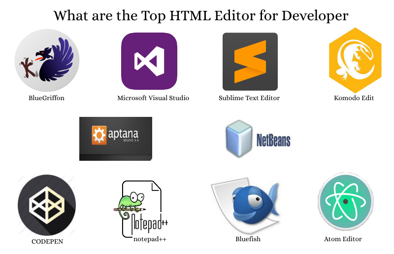 What are the Top HTML Editor for Developer