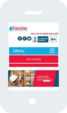 Fazzino Plumbing and Heating Home Mobile