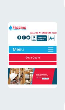 Fazzino Plumbing and Heating Home Mobile