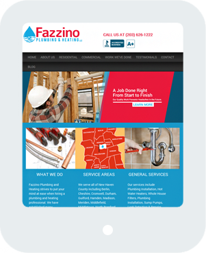 Fazzino Plumbing and Heating Home Tablet