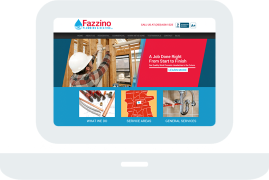 Fazzino Plumbing and Heating Home Desktop