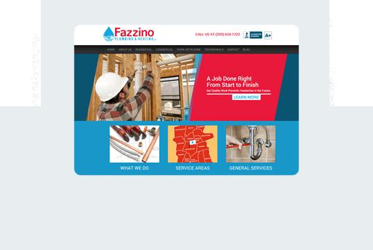 Fazzino Plumbing and Heating Home Desktop