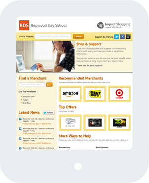Redwood Day School Home Tablet