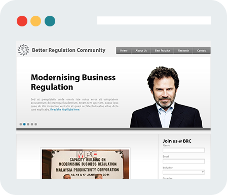 Better Regulation Community Home Desktop