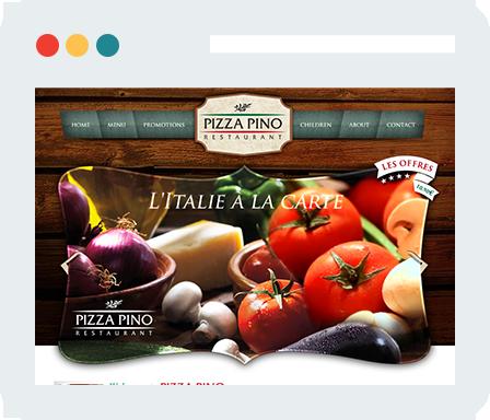 Pizza Pino Home Desktop