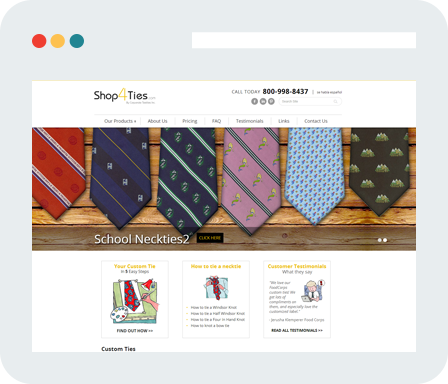Shop4Ties.com Home