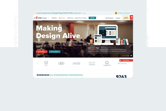 CSSChopper Home Desktop