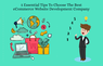 5 Essential Tips To Choose The Best eCommerce Website Development Company