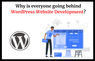 Why Is Everyone Going Behind WordPress Website Development?